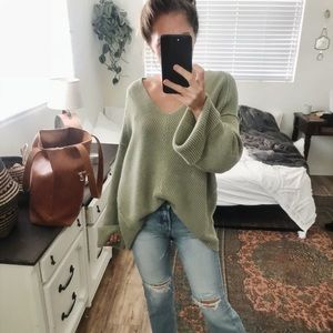 Free People La Brea V-neck in Sage